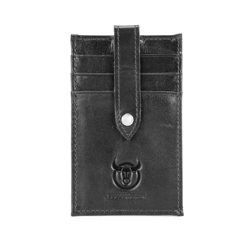 FGGS BULLCAPTAIN Credit Card Holder Genuine Leather ID