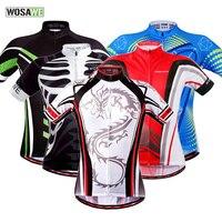 WOSAWE Cycling Jersey Short Sleeve Men Bicycle Bike Cycle Wear Sports Shirt Top Cycle Clothing MTB