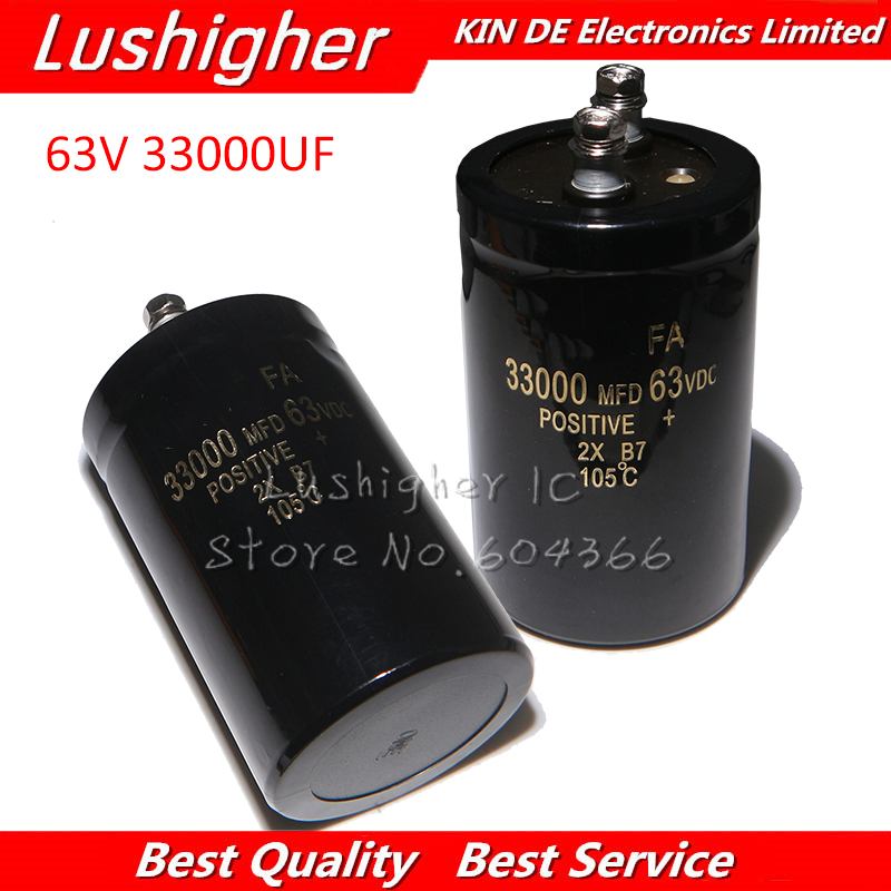 1PCS 63V 33000UF 63V33000UF 33000UF 63V 50x80mm Electrolytic Capacitor