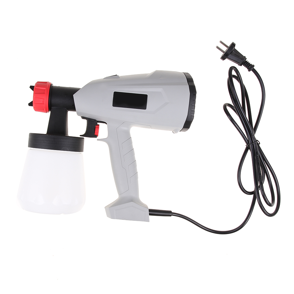 400w Electric Spray Gun Paint Spray Gun 700ml DIY Adjustable flow HVLP sprayer Control Spray Power EU Plug 800w electric painter spray gun 900ml latex paint sprayer 1 8m spray hose hvlp paint sprayers house painting machine power tools