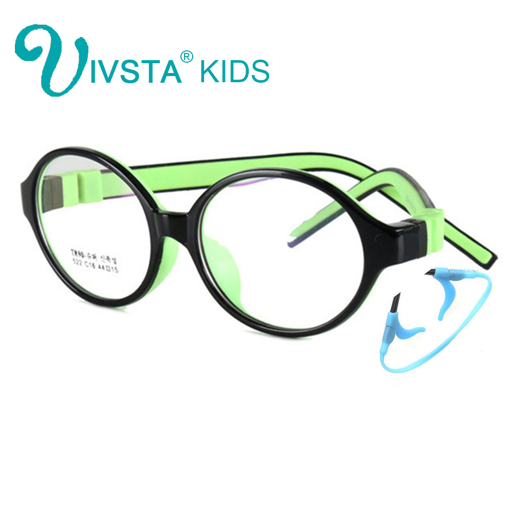 Image 2 - IVSTA 44 15 125 522 TR90 Kids Optical Frame Silicone Children Glasses with Strap retainer holder boys girls prescription-in Women's Eyewear Frames from Apparel Accessories on AliExpress