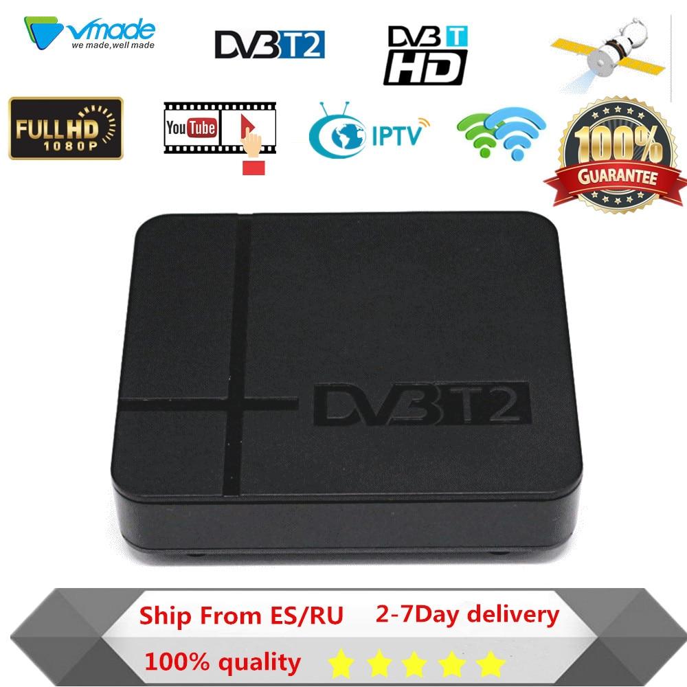 Vmade DVB T2 Terrestrial Receiver DVB-T2 TV box HD 1080P MPEG-2/4 H.264 Support HDMI Set Top Box Tuner FREE Shipping