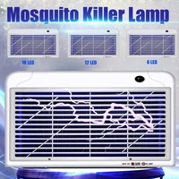 Large Size Electric Mosquito Killer Lamp 6/12/18 LED Lights Electric Fly Trap Energy Saving Anti Mosquito Fly Insect Repellent
