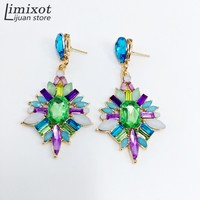 High Quality Hot Sale Women Fashion Stud Earring Crystal Vintage Statement Earrings 3 Colors Wholesale