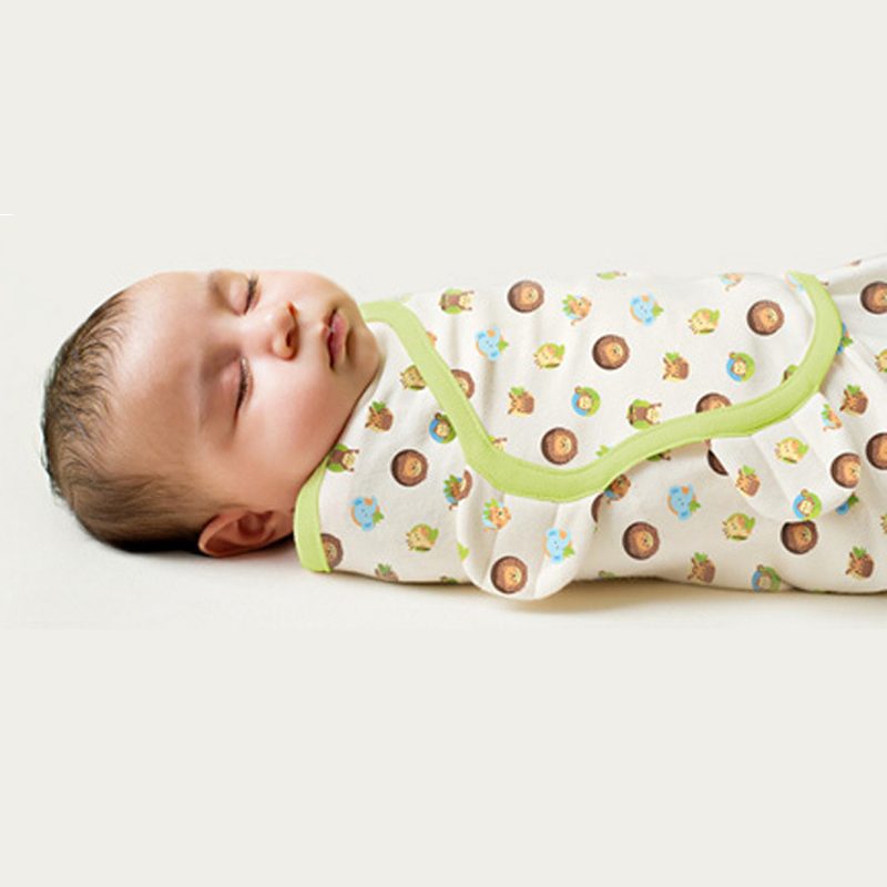 Sobres de la manta del bebé del verano del tamaño de S / L para los recién nacidos Mantas del bebé Manta del abrigo del Swaddle del bebé del 100% Mantas recién nacidas del bebé