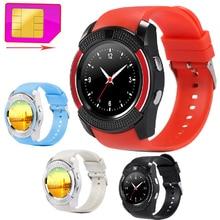 V8 Smart Wrist Watch Support 2G GSM SIM TF Card Sport Clock font b Smartwatch b