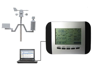 Image 2 - 100M מקצועי תחנת מזג מדחום לחות גשם לחץ נתונים מקליט עם מחשב שמש כוח אלחוטי מזג אוויר מרכז