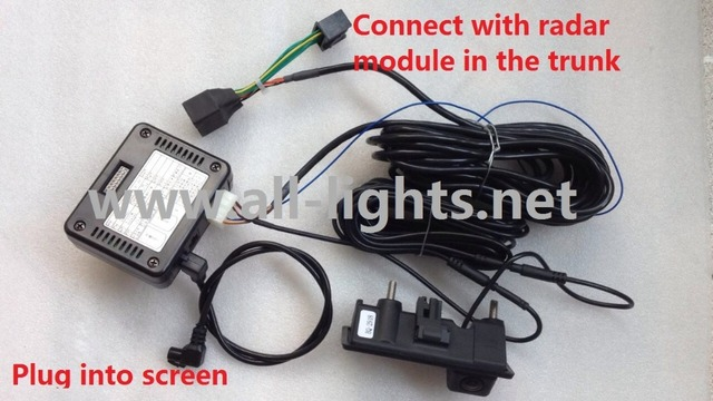 A6 3G MMI PLUS Rear View Camera iPas moving guideline parking Reversing Plug and Play
