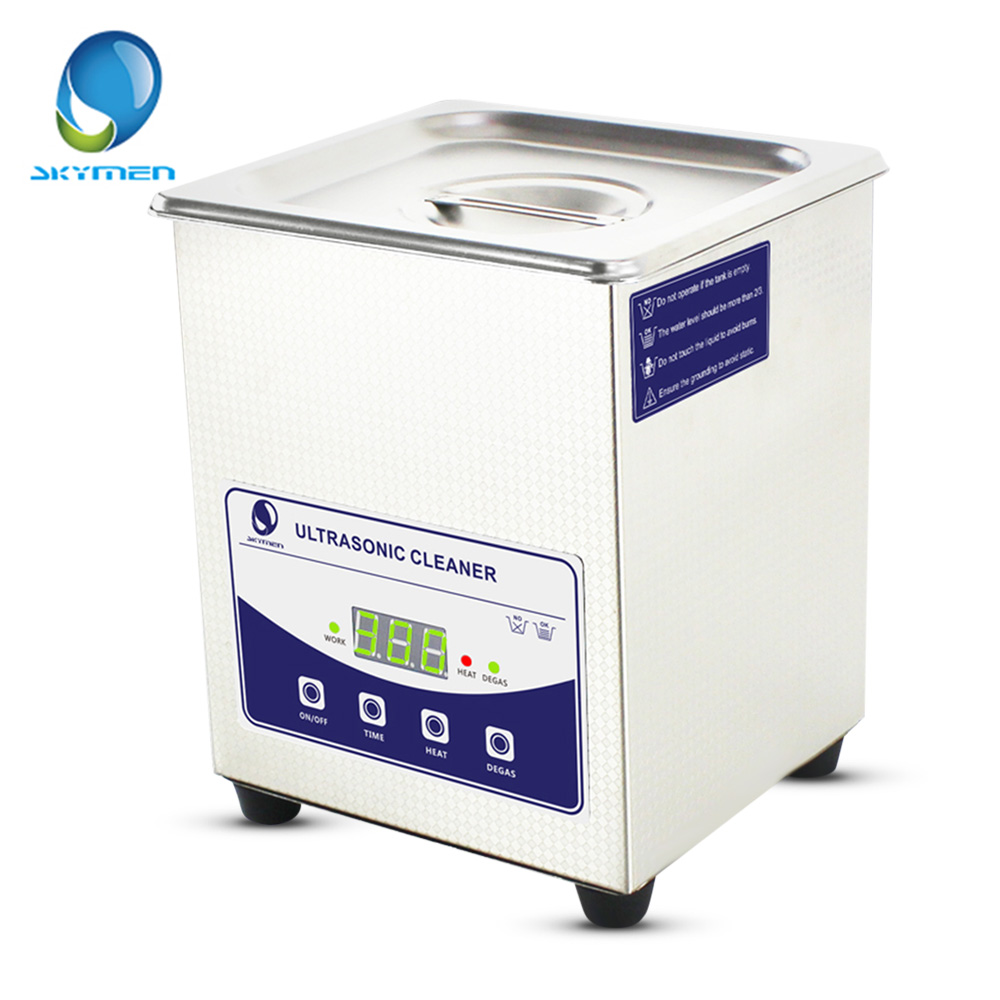 SKYMEN Digital 2L Ultrasonic Cleaner Stainless Steel Sterilizing Nail Tools With Degas Heating Timer Bath 80W Ultrasound Washer 15l stainless steel digital ultrasonic cleaner with timer and heater including washing basket