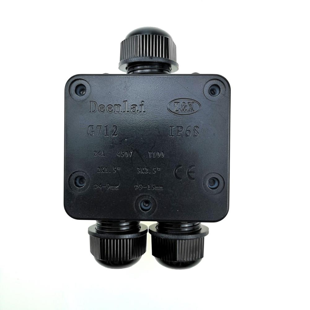 Waterproof Junction Box Case Underground Cable Line Protection Connectors 3 Way