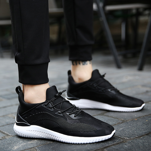 new mens summer Comforta mesh breathable casual trainers lighted shoes for adults fashion man's off black tubular zapatos hombre