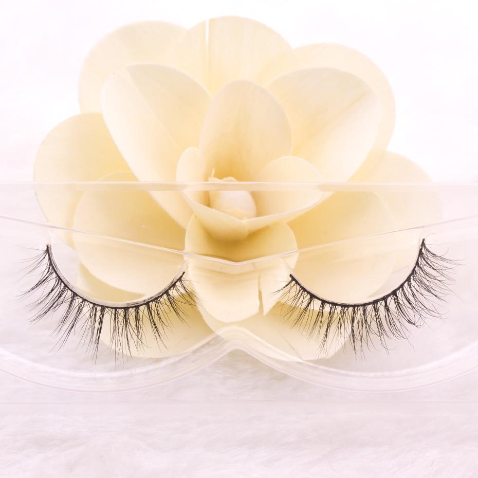 1 Para Rzęs 3D Prawdziwe Naturalne Rzęsy Mink Naturalne Długie - Makijaż - Zdjęcie 6