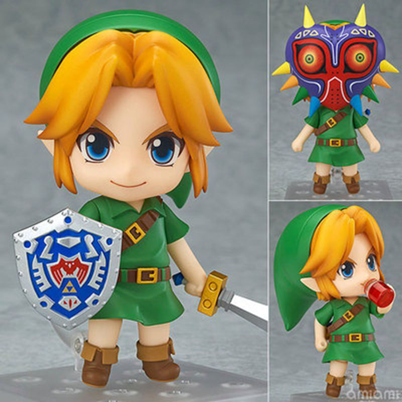 Original box Anime The Legend of Zelda Link 553 Majora's Mask 3D Ver 10cm pvc Action Figure Collection model kids toys gifts anime the legend of zelda 2 a link between worlds link figma 284 pvc action figure collectible model kids toys doll 10 5cm