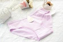 Pure Cotton Girl Underwear Solid Color Pink Plus Size Underwear Cute Sexy Women's Briefs 2016 Hot Cheap Wholesale M L XL XXL 3XL