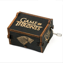 Wood Music Box Game of Thrones Harri Potter Wooden Music Box Antique Carved Wooden Hand Crank Music Boxs Birthday Gift