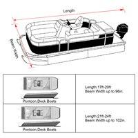 waterproof rain 14-24ft For Universals Heavy Boat Covers 201D Waterproof Dustproof Trailerable Pontoon Boat Cover Coat Protect Rain UV  D45 (3)