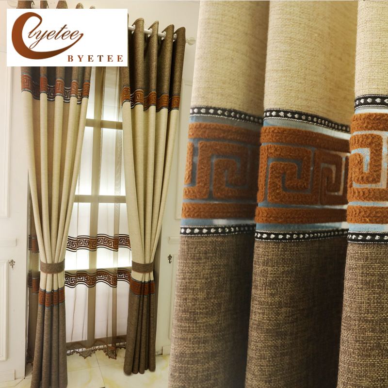 {byetee} Modern Luxury Bedroom Drapes Ready Made Door Curtain Fabrics Kitchen Curtains For Living Room Window Curtain Blackout