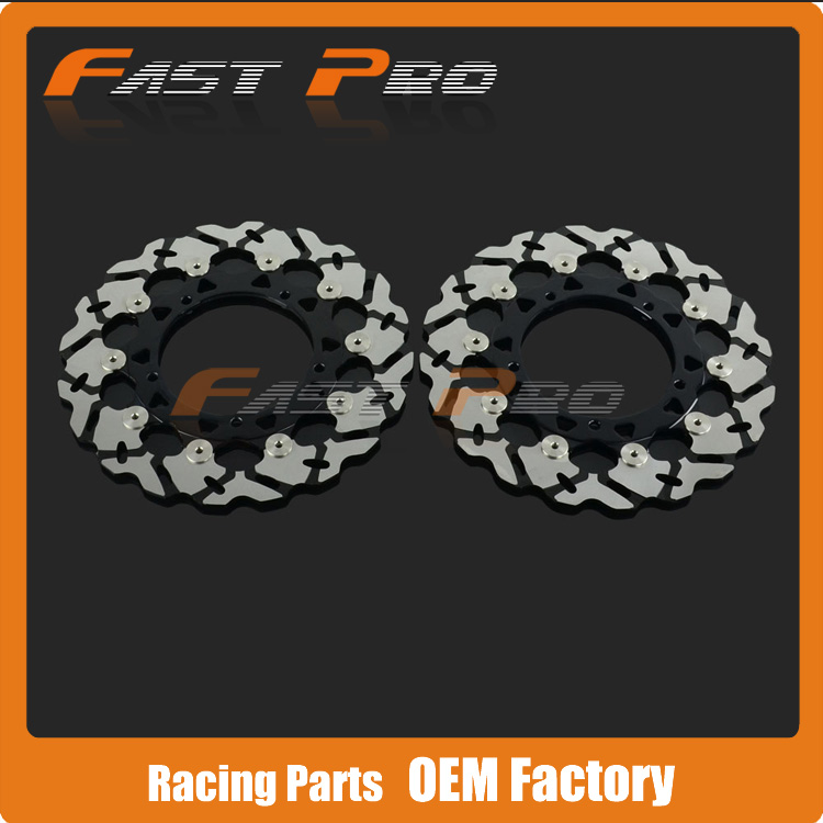 1 Pair Front Brake Disc Rotor For Yamaha YZF R6 06-14 YZF R1 07-14 FZ8 FAZER 10-13 XTZ1200 SUPER TENERE 10-14 keoghs motorcycle brake disc brake rotor floating 260mm 82mm diameter cnc for yamaha scooter bws cygnus front disc replace