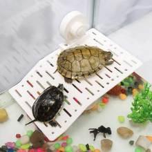 Plastic Turtle Climbing Platform Tortoise Floating Island Suction Cup Fish Tank Shelf Ramp Aquarium Reptiles Basking Island