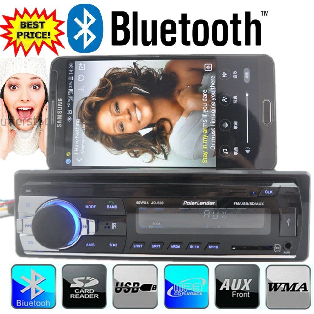 New 12V bluetooth car Radio car stereo bluetooth MP3 font b Audio b font Player Bluetooth