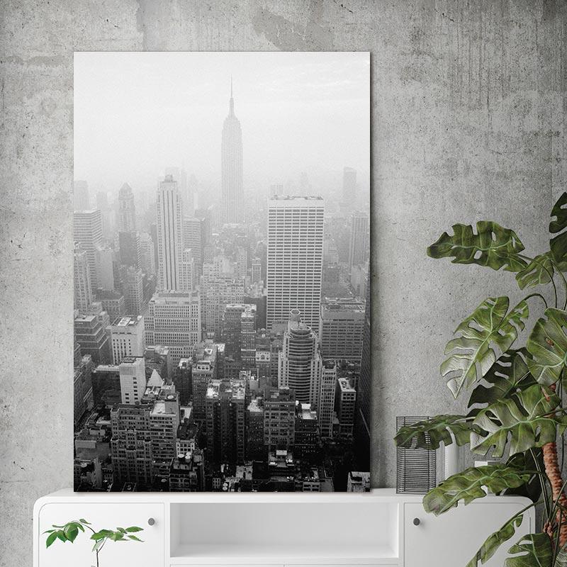 Obrazy na plátně Městská budova Severské abstraktní nástěnné obrazy pro obývací pokoj Umělecké dekorace Fotografie Skandinávský bez rámu