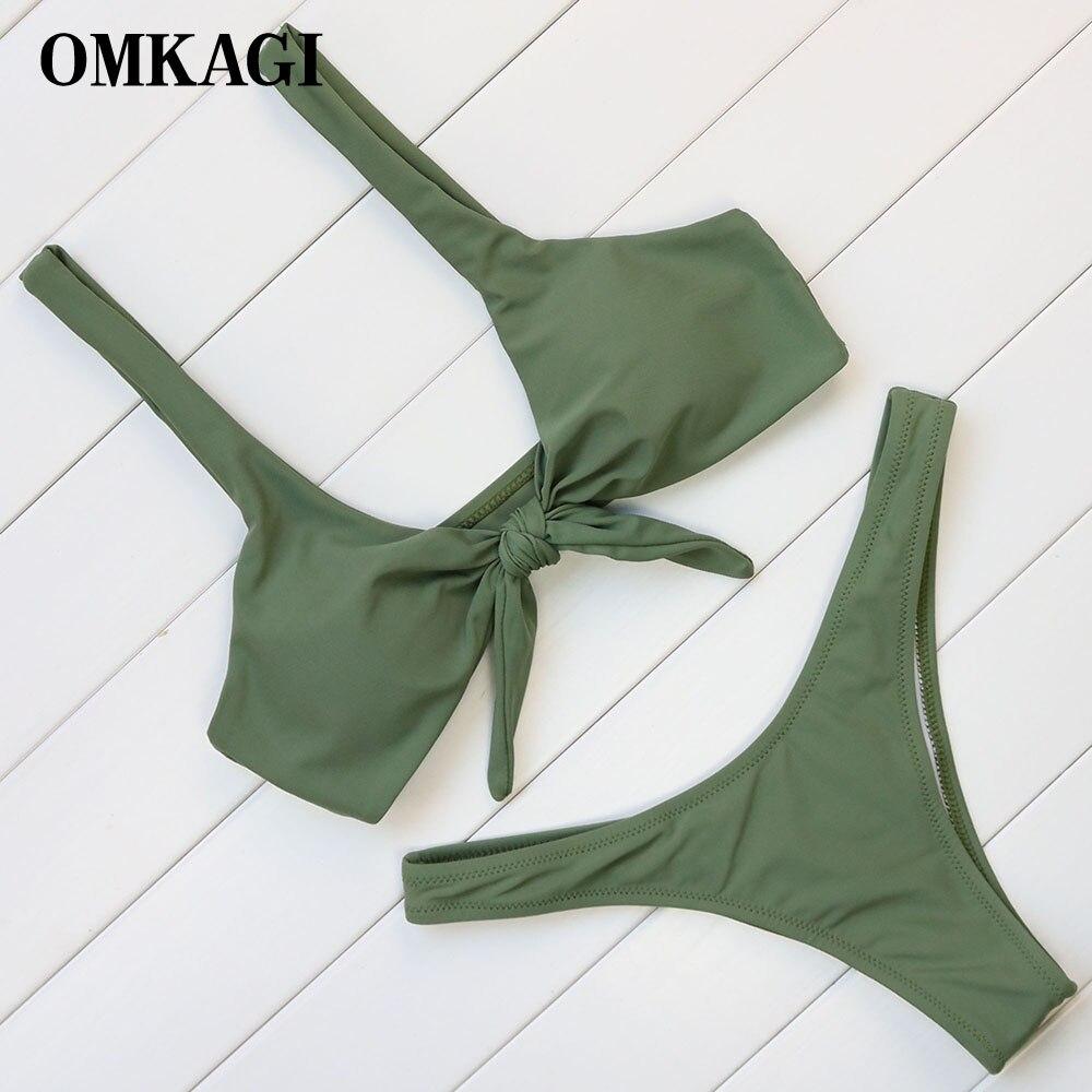 OMKAGI Marke Sexy Brasilianische Bikinis Frauen Bademode Frauen Badeanzug Bandage Bikinis Set Push-Up Badeanzug Bademode Schwimmen