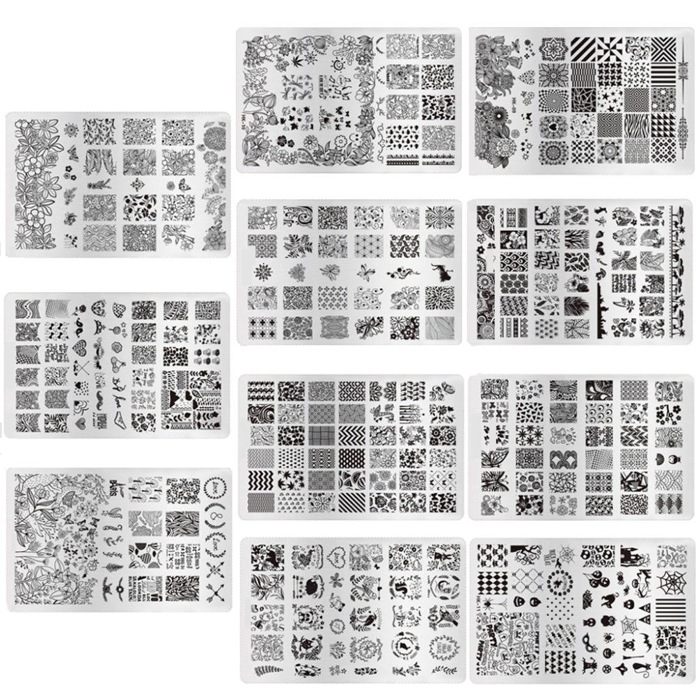 ⊹Fashion 11 Designs Nail Polish Templates DIY Nail Art Stencils ...