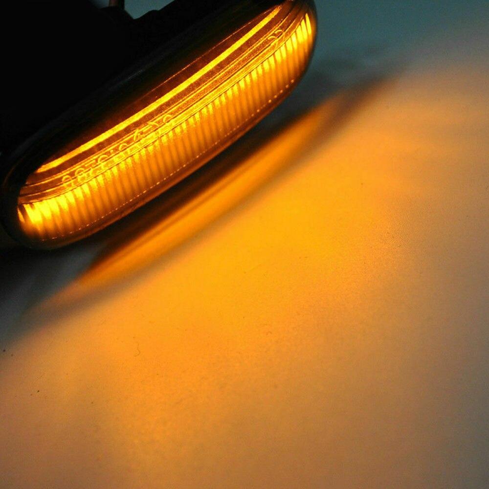 2Pcs/set LED Side Marker Lights Amber Turn Signal Light For Audi A4 S4 B6 B7 A6 C5 TT A8