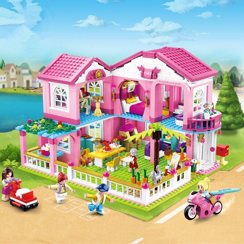 City House Big Garden Villa Building Blocks Castle Compatible LegoINGs Friends Creator Bricks Figures Educational Toys For Girls