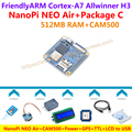Quad-core A7 Allwinner H3 FriendlyARM NanoPi NEO Воздуха + CAM500 + Питание + 1602 + GPS + TTL + USB Кабель + теплоотвод = NanoPi NEO Пакет Air C