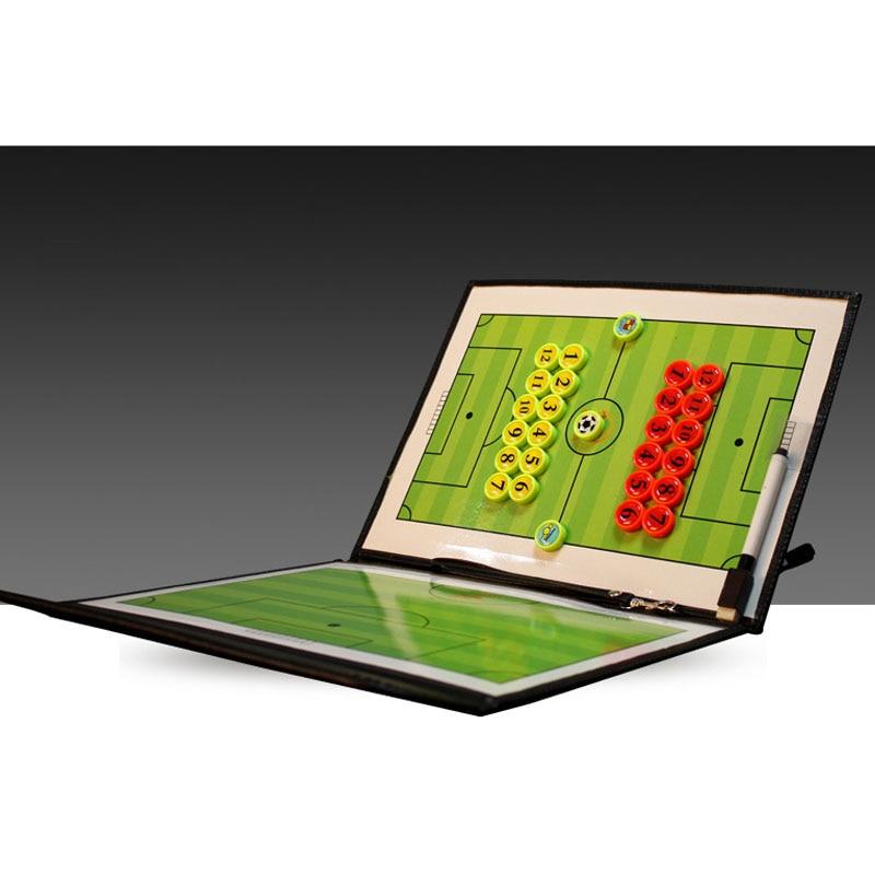 Tablero de entrenador de fútbol magnético MAICCA tácticas de entrenamiento de fútbol plegables Juego de libro de placa táctica con portapapeles de pluma al por mayor