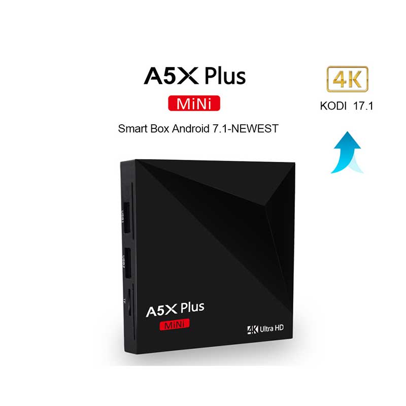 AH-LINK A5X Mini Plus Smart TV Box For Android 7.1 Set Top Box HDMI 2.0a RK3288 For 4k@60Hz DC 5V 2A /1G DDR3/8GB EMMC TV Box цена