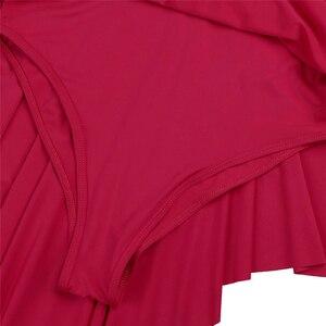 Image 5 - 성인 높은 낮은 서정적 인 댄스 의상 발레 투투 드레스 프론트 무대 공연 체조 레오타드 댄스 복장 여성을위한 잘라 내기