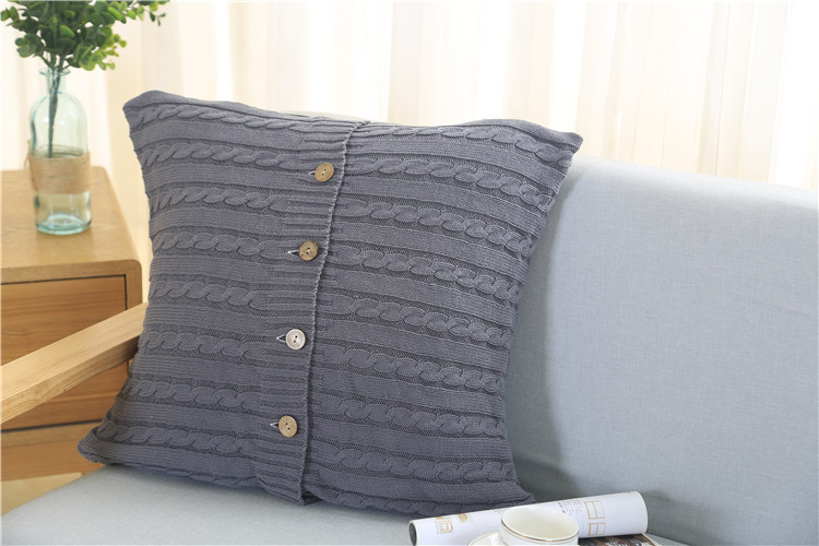 Fashion Knit Cushion Pillowcase Cover 40% Cotton Cable Knit Throw Fascinating How To Knit Pillow Covers