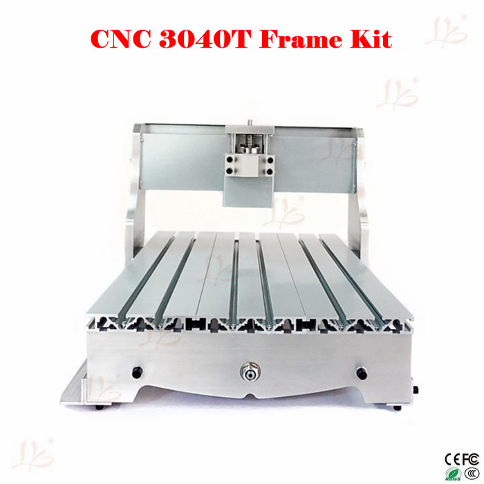 Free tax to RU Mini DIY frame 4030 cnc router metal engraving machine 3040 free tax to eu high quality cnc router frame 3020t with trapezoidal screw for cnc engraver machine