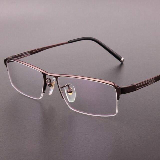 Новая мода половина оправе очки кадр Чистого titanium очки кадр очки мужчины очки по рецепту 9918