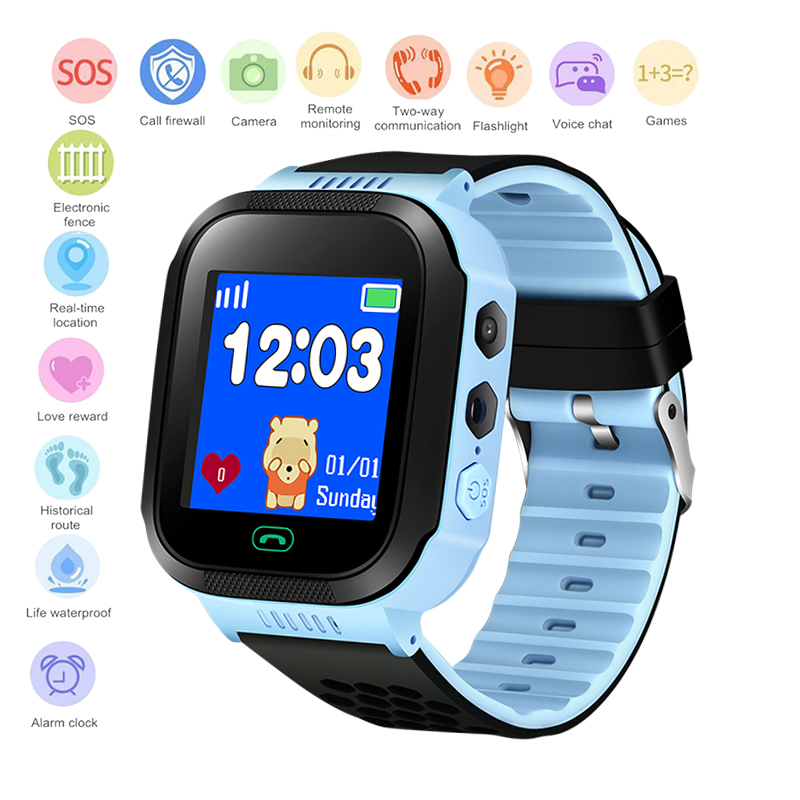 BANGWEI 2019 New Children Smart Watch Baby Digital Watch OLED Color Touch Screen SOS Emergency Call LBS Security Positioning