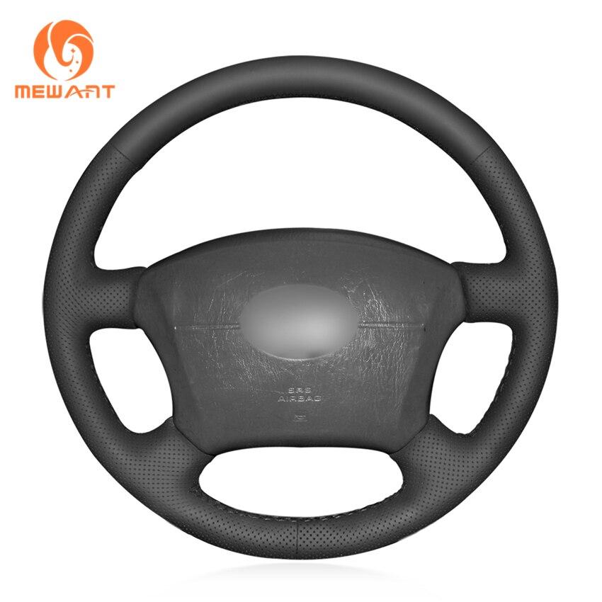 MEWANT Black Artificial Leather Steering Wheel Cover for Toyota Land Cruiser Prado 120 Land Cruiser 2003-2007 Tacoma 2005-2011