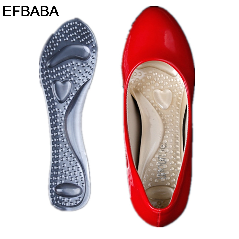 цены EFBABA Silicone Gel Insole Women Shoe Pad Arch Supports Massage Foot Pad Heel Pain Relief Orthopedic Shoes Insoles Accessoires
