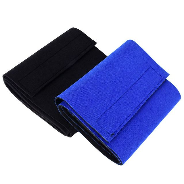 Men Women Waist Trimmer Back Support Belt Brace Gym Guard Posture Pain Relief Waist Support Black/Blue 2Colors