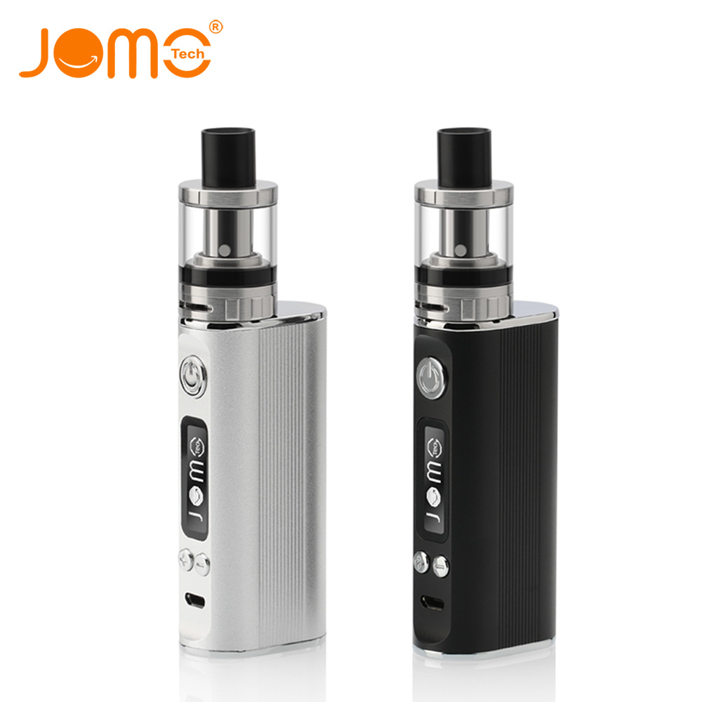 Original JOMOTECH 80W 2600mAh Battery Electronic Cigarette Kit 0.4ohm 2ml Vaporizer Vape Box Mod LED Screen E Cigarette Jomo-130 smoant battlestar 200w tc mod electronic cigarette mods vaporizer e cigarette vape mech box mod for 510 thread atomizer x2093