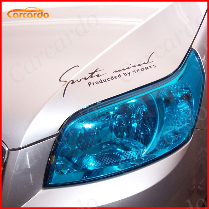 11.81'' X 314.96'' Glossy Auto Car Headlight Taillight Tint styling Sticker 30CM X 8M DIY Car Lamp Film Free Shipping