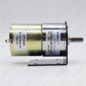 Image 5 - ZGA37RG 12V DC 100 RPM Gear Box Motor 1/34.5 High Torque 3500RPM Reversible Motor + Motor Holder + 6mm to 8mm Flexible Coupling