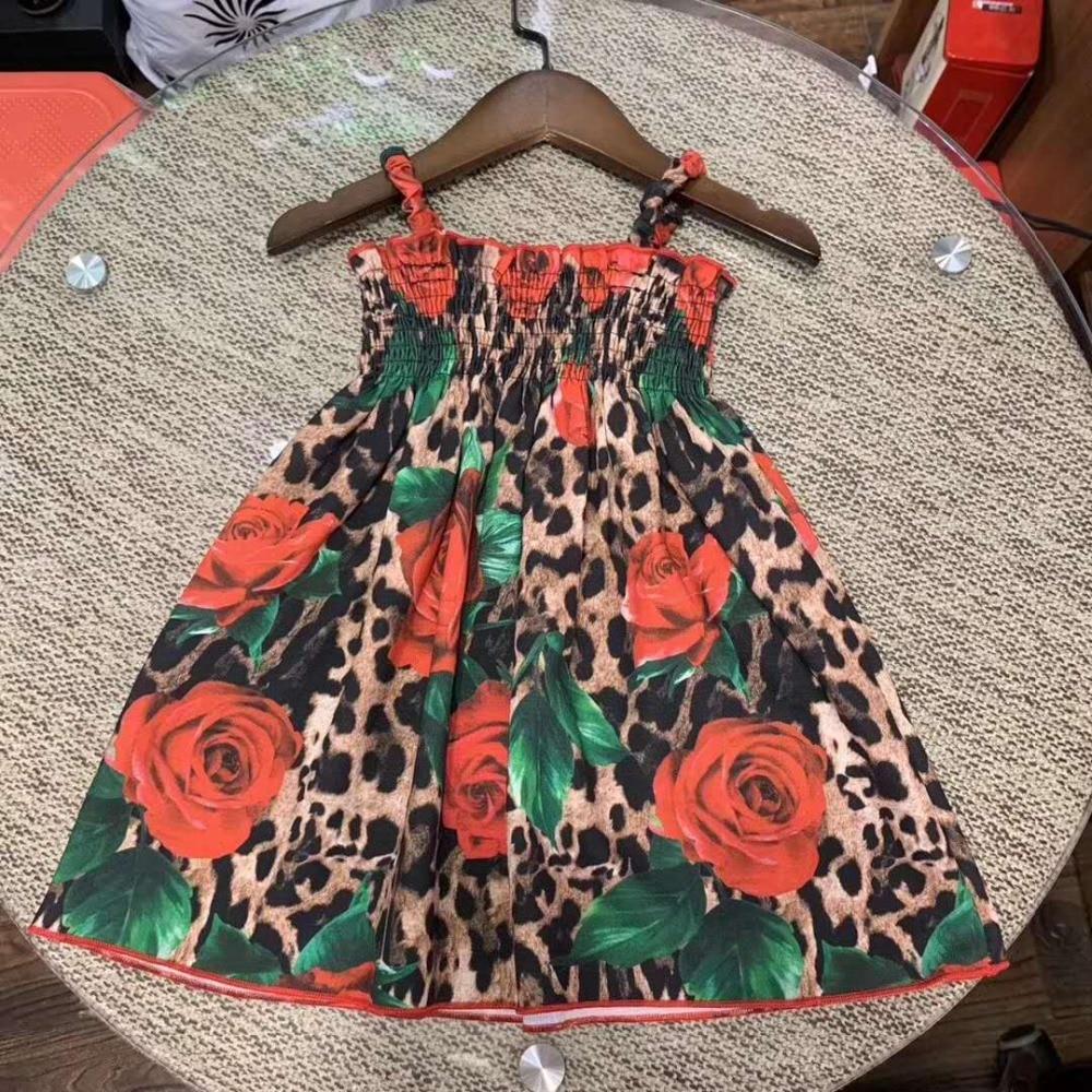 Girls beach holiday dress Girls summer Cotton printed dressGirls beach holiday dress Girls summer Cotton printed dress