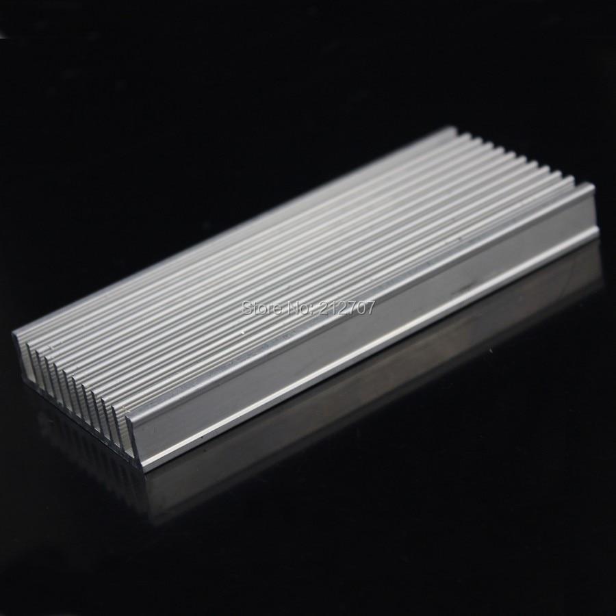 2 Pcs Gdstime Diy Pendingin Aluminium Heatsink Radiator 10 X 10mm Cooling Heat Sink Chip 120x50x12mm Untuk Ic Dipimpin Daya Transistor Di Fans Dari Komputer