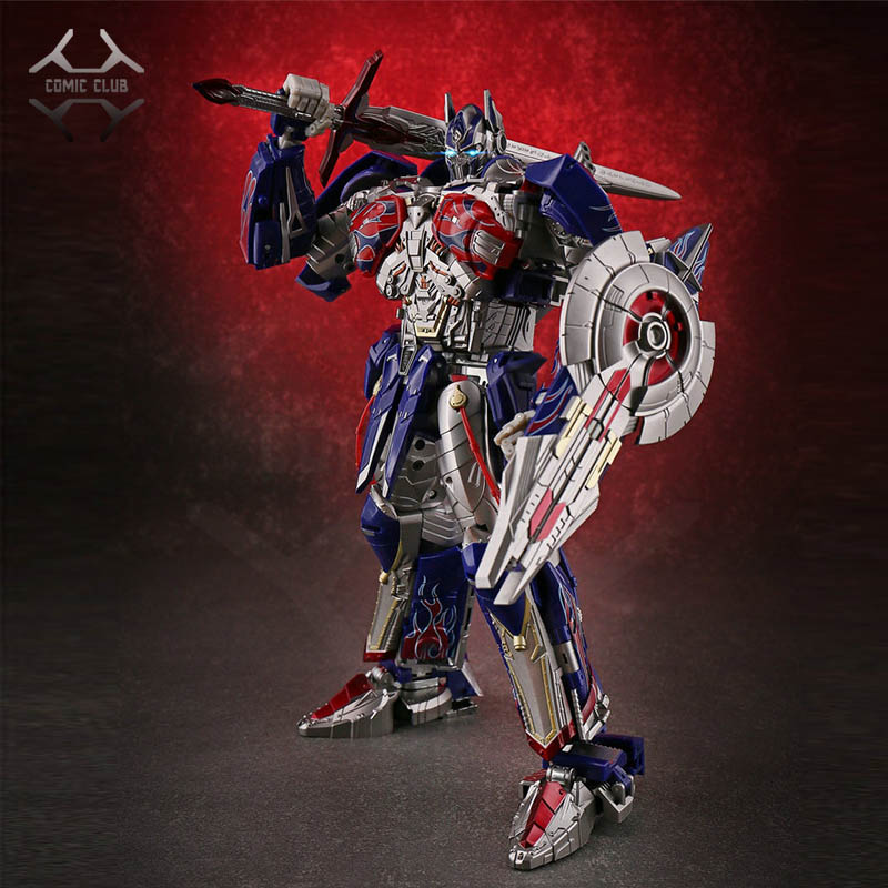 COMIC CLUB In-stock Unique Toys UT Transformation Robot TF R-02 Knight OP Challenger Metal Contain Led Light Action Figure Toy