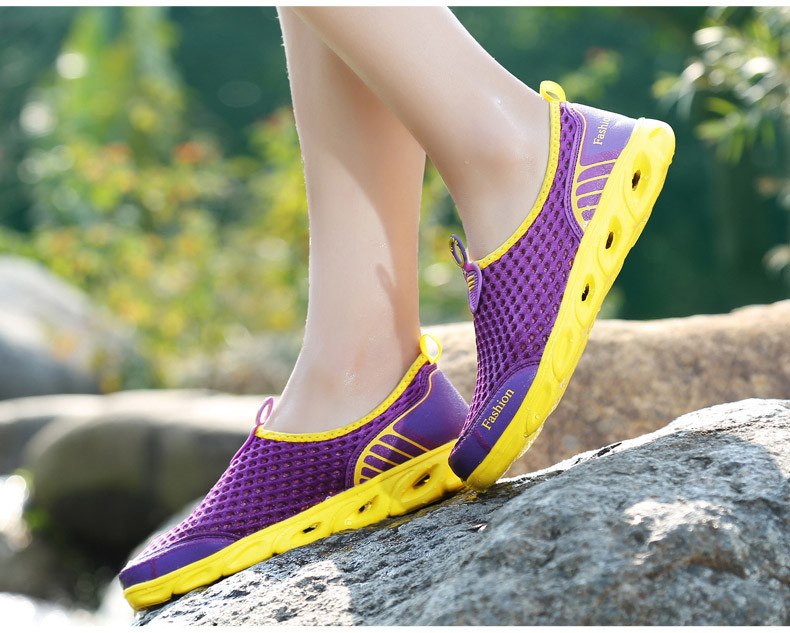 PINSEN Woman Slip-On Flats Breathable Women's Shoes