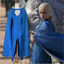 Free Shipping Custom Made A Song of Ice and Fire Game of Thrones Daenerys Targaryen Cospaly Dress / Daenerys Targaryen Costume targaryen game of thrones a song of ice and fire necklace anime figures action