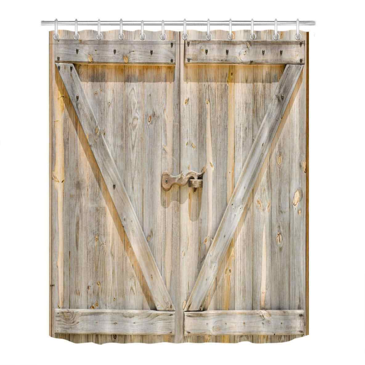 Detail Feedback Questions About Farmhouse Barn Door Shower