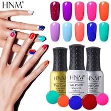 HNM 8 мл замачиваемый УФ гель лак для ногтей светодиодный Гель-лак для ногтей 58 цветов Гель-лак Vernis Полупостоянный лак гель-лаки